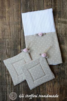 set asciugamani cucina-presine shabby