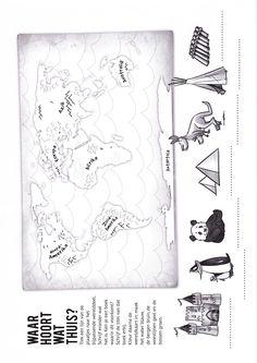 Werkblad voor groep 3 en 4 uit het lespakket van de CPNB.