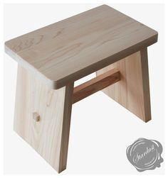 Japanese Wooden Bath Stool 'Osen Bath Stool' in Hinoki Wood . Wooden Furniture, Furniture Projects, Wood Projects, Furniture Design, Bath Stool, Bathroom Stools, Wooden Stool Designs, Hinoki Wood, Japanese Furniture