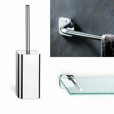 Serie #LOW #VALLIARREDOBAGNO #Accessori #bagno in #ottone e #abs #cromato, con elementi in #cristallo #acidato.  Acquistabili online su http://italiarredo.eu/ #italiarredo #bathroom #design #MadeInItaly #TopQuality  http://italiarredo.eu/18-accessori
