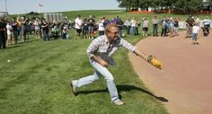 "Kevin Costner and Sons Play Catch at 'Field of Dreams' Site on the 25th Anniversary of ""Field of Dreams"""
