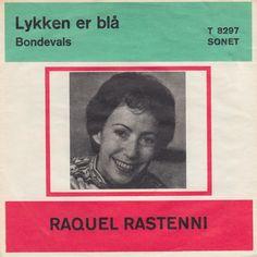 """Lykken er blå. Fremført af Raquel Rastenni. Dansk version af """"l'amour est bleu"""". Luxembourg @ ESC 1967. Cover 2"""