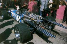 1968, XXVI Grand Prix Automobile de Monaco. Monaco. Fisrt Grand Pix for Matra Team. At the photo the Beltoise's Matra MS11, with the powerfu...