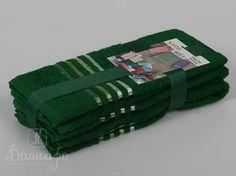 Набор полотенец BALE темно-зеленый 30х50 (3шт) от Karna (Турция) - купить по низкой цене в интернет магазине Домильфо