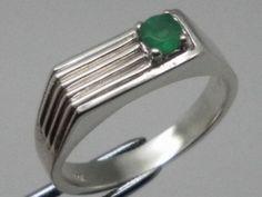 Vintage 14kt Emerald Men's Ring;