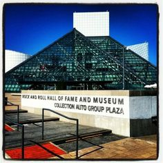 The Rock and Roll Hall of Fame and Museum in Cleveland, OH