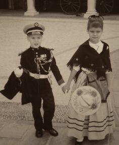 Prince Albert and Princess Caroline of Monaco as children