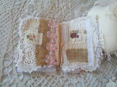 Journal Fabric and Laces Vintage Shabby Chic Style by Number45