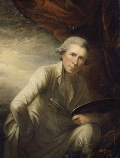George Romney self-portrait (actually, this was painted in 1802, but is included in the transition period because it is so admirable)