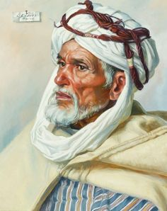 "art-and-things-of-beauty:  ""  Louis Endres (1896-1989) - Portrait of a Moroccan man, oil on canvas, 51,1 x 41,3 cm.  """
