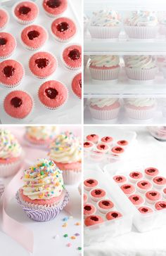 DIY Large Batch Strawberry Cupcakes recipe and tips from Sprinkle Bakes