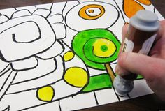 Dab and Dot Markers: Hundertwasser inspired art project- (Shape project)