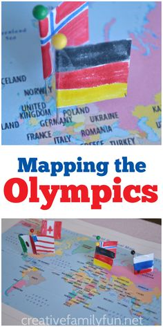 Learn about geography and the flags of the world with this fun Mapping the Olympics activity.