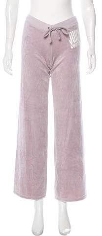 Champagne Juicy Couture low-rise wide leg sweatpants with printed graphic at hip and drawstring at waist. Athletic Pants, Juicy Couture, Wide Leg, Pajama Pants, Pajamas, Sweatpants, Legs, Fashion, Sleep Pants