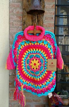 Ideas Clothes Boho Winter Ponchos For 2019 Poncho Crochet, Crochet Cowl Free Pattern, Crochet Jacket, Freeform Crochet, Crochet Patterns, Crochet Ideas, Hippie Crochet, Beautiful Crochet, Crochet Designs