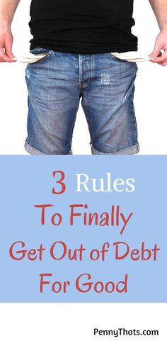 3 Rules To Get Out Of Debt For Good. I was struggling with debt until I came across these 3 rules. They have helped me get a handle on my money and get out of debt. Ways To Save Money, Money Tips, Money Saving Tips, Money Hacks, Living On A Budget, Saving For Retirement, Get Out Of Debt, Frugal Tips, Budgeting Tips