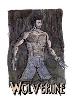 Wolverine water color by victorsmeneses.deviantart.com on @DeviantArt