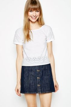 Shop online with Jack Wills for women's tops, shirts and blouses. Find your new favourite go-to with floral prints, frills and wrap styles. Teacher Outfits, Teacher Clothes, British Style, Wrap Style, Denim Skirt, Floral Prints, Mens Fashion, Jack Wills, Skirts