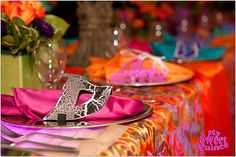 Quinceanera Masquerade Table Setting