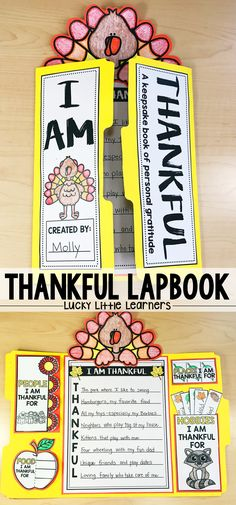 This thankful lapbook is the perfect writing project for students to use in November.  It also makes a great keepsake and gift for parents!