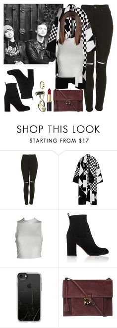 """""""Cold day with Calum and Ashton. -----> *Cynthia."""" by imaginegirlsdsos ❤ liked on Polyvore featuring The Ragged Priest, STELLA McCARTNEY, Gianvito Rossi, Casetify, Rochas and GUESS"""