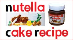 Nutella 3D Chocolate Jar Cake Recipe