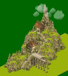 Dofus - Maison sur la colline by Weequays