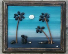 Guijarro arte arte rupestre guijarro arte pareja por CrawfordBunch