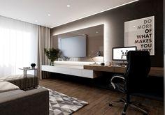 Home Office Space, Home Office Design, Home Interior Design, Bedroom Cupboard Designs, Living Room Designs, Living Room Tv, Home And Living, Tv In Bedroom, Bedroom Decor