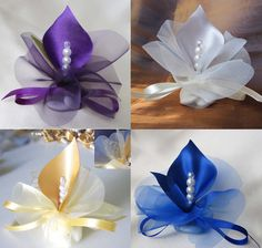 wedding favors calla lily crystal purple royal blue by adiart1, $1.30