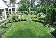 This is the same shape as our backyard--we could do something like this