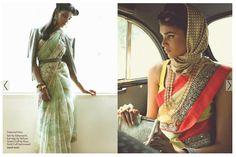 retro saree by sabyasachi http://beautagonal.blogspot.com/