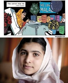 """""""They cannot stop me."""" - Malala"""