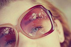 cute girl with big sunglasses #sunglasses #style #fashion