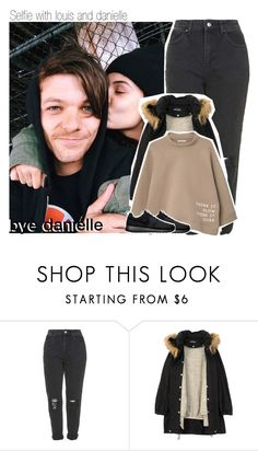 """""""Selfie with louis and danielle"""" by isabelapbarreto ❤ liked on Polyvore featuring Topshop, Humör, MANGO and NIKE"""