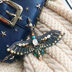 "3,807 Likes, 24 Comments - ⚪ (@handmade.embroidery) on Instagram: ""Фламинго @guzel.ky ___ #брошь #брошьручнойработы #арт #аксессуары #весна #фламинго #embroidery…"""