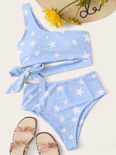 Fashion Women 2020 New Light Blue Bikini Cute Cheap Bathing Suits - 2020 Fashion Women Light Blue Bikini Cute Cheap Bathing Suits – firstes Source by - Bathing Suits For Teens, Summer Bathing Suits, Cute Bathing Suits, One Shoulder Bikini, One Shoulder Tops, Summer Bikinis, Cute Bikinis, Cute High Waisted Bikinis, Modest Bikini