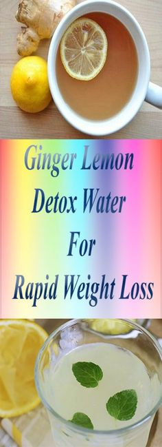 Ginger Lemon Detox Water For Rapid Weight Loss – My Life My Health