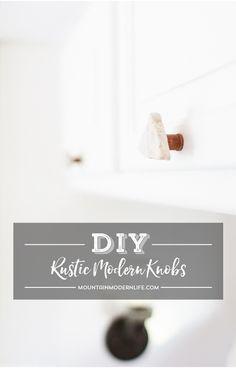 Rustic Modern DIY Cabinet Knobs