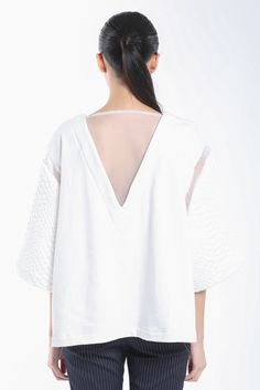 Smart Casual V-Back See Through Jersey Top | Drive Store http://www.drive-store.com/collections/tops/products/vbackseethroughjerseytop