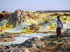 In the Afar region of northern Ethiopia, lies a vast, tortured, desert plain called the Danakil Depression. Sulphur Springs, John Muir, Mother Earth, Wilderness, Grand Canyon, Waterfall, Scenery, Survival, Africa