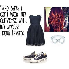 """""""converse with my dress!"""" by soccer4evr1774 on Polyvore FOLLOW ME"""