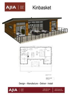 Cabin House Plans, Cottage Floor Plans, Tiny House Cabin, Cabin Homes, Small House Plans, Small Cottage Plans, Container House Plans, Container House Design, Small House Design