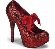 Red glitter heels! I m thinking I could sub out blue laces then there eeddad199