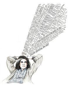 Susan Sontag on Art. by wendymacnaughton on Etsy, $49.00