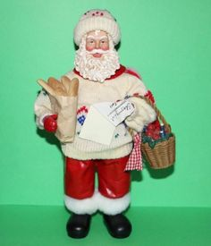 Possible Dreams Clothtique Holiday Gourmet Santa Claus figurine w/ bread 1997 #babescollectibles
