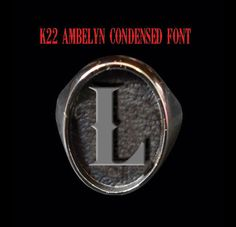 Stainless Steel L Single Letter/Initial Oval Signet Ring-Custom Size-Inc Ship #Handmade #Signet
