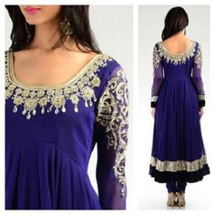 Jodha purple designer anarkali with silver embroidery