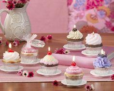 Sweet cupcake candles!