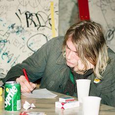 gambar nirvana, kurt cobain, and grunge Nirvana Kurt Cobain, Kurt Cobain Photos, Kurk Cobain, John Blake, Donald Cobain, Seattle, Something In The Way, Dave Grohl, Foo Fighters